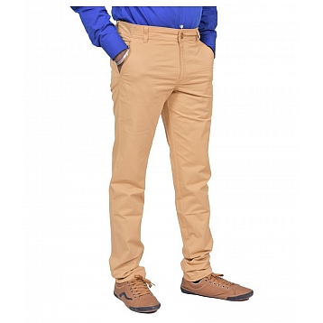 Just Trousers Khaki Slim -Fit Flat Trousers