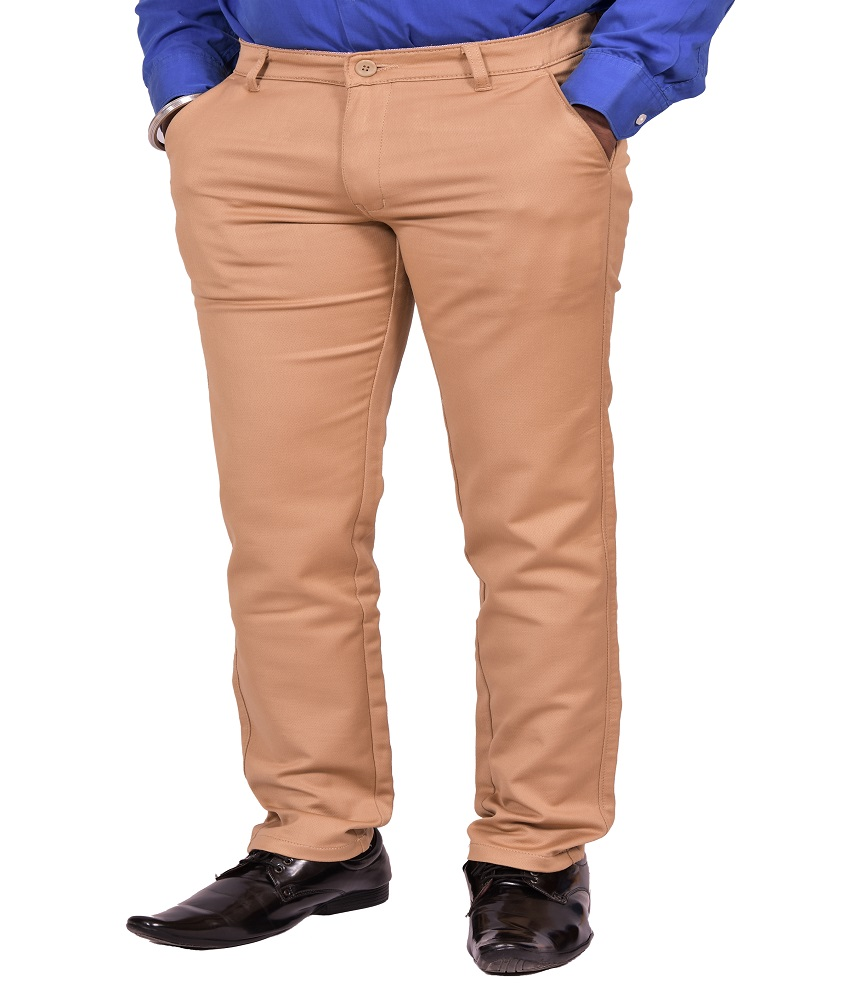 Just Trousers Khaki Slim -Fit Flat Chinos