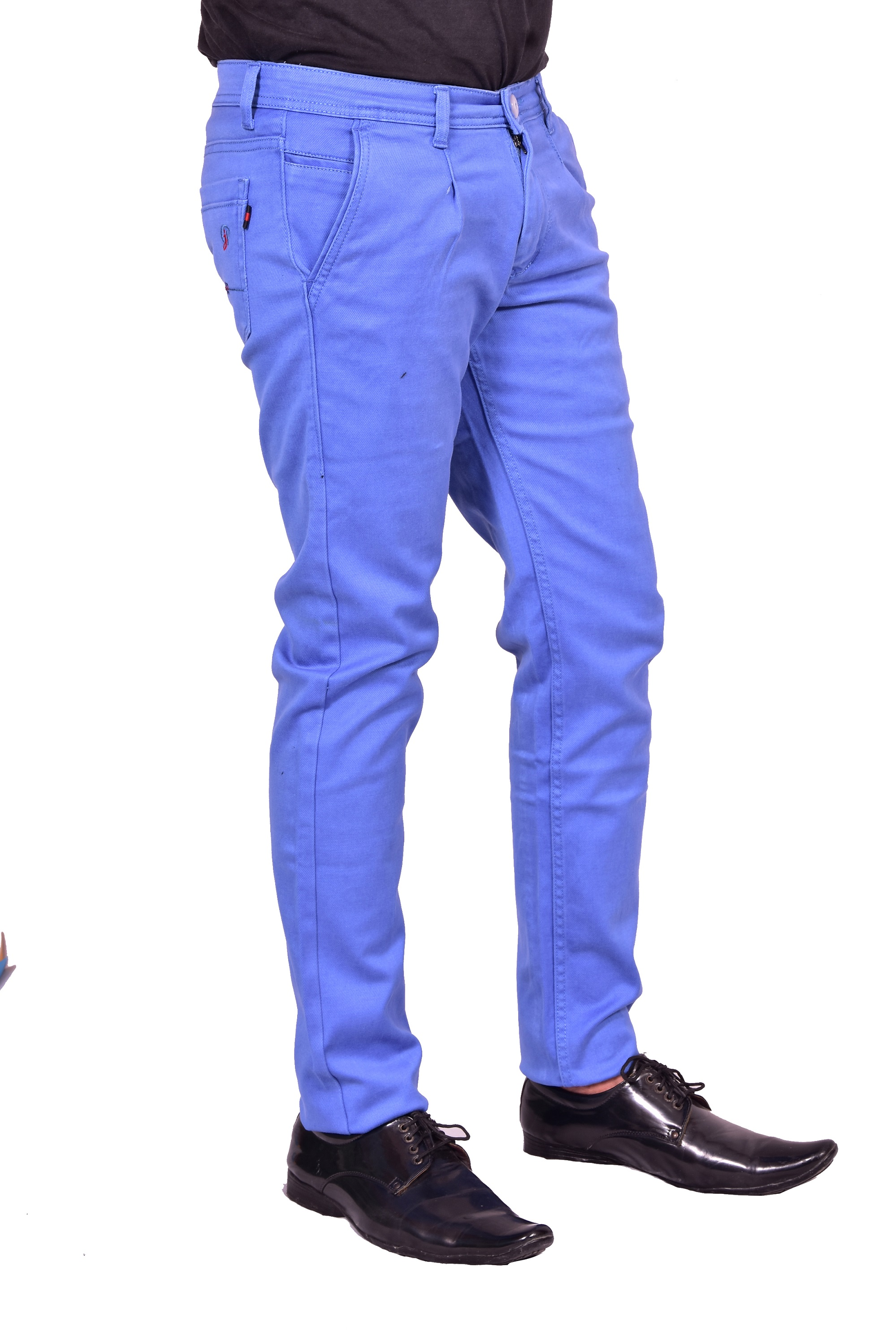 Just Trousers Sky Blue Regular Men sky Blue Jeans