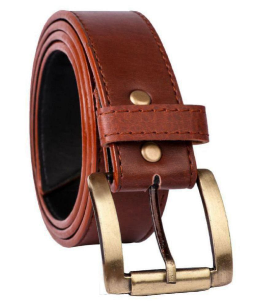 Brown Leather Brown Casual Belt