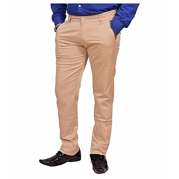 Just Trousers Cream Slim -Fit Flat Trousers